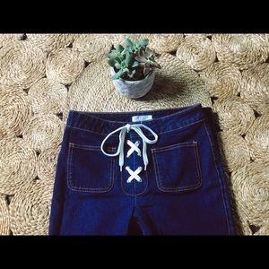 ✰ Zara Lace Up Jeans ✰